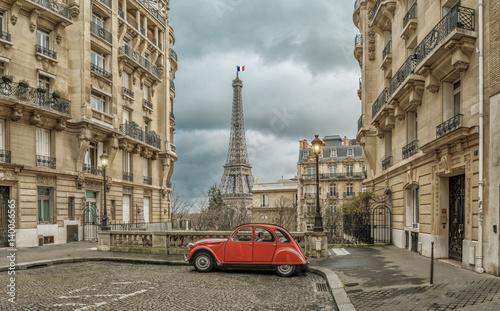 Fototapeta Avenue de Camoens in Paris obraz na płótnie