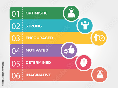Photo  Think Positive Infographic Concept