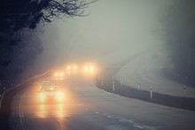 Cars In The Fog. Bad Winter We...