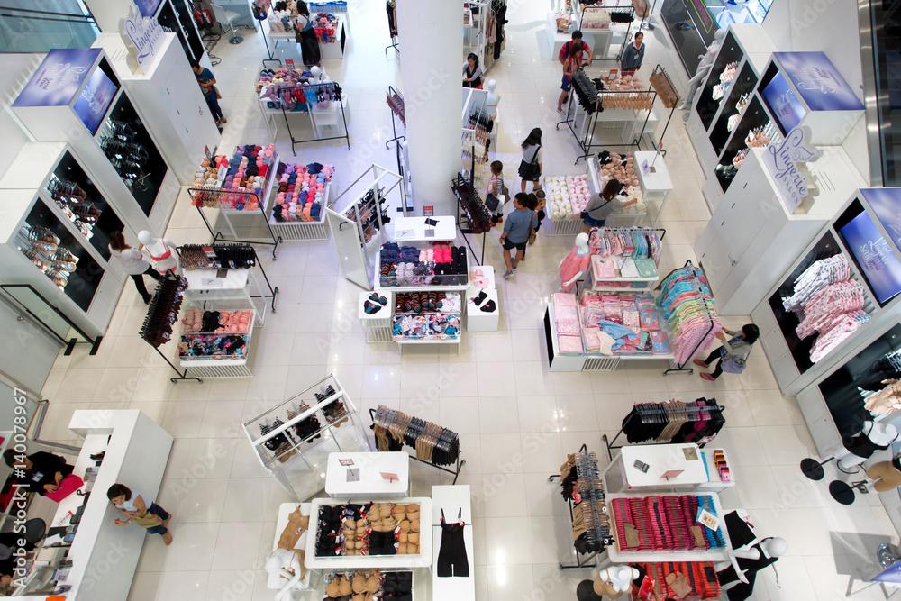 Fototapeta interior of modern shopping mall