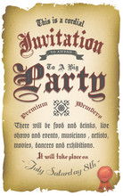 Vintage Old Medieval Invitation Poster