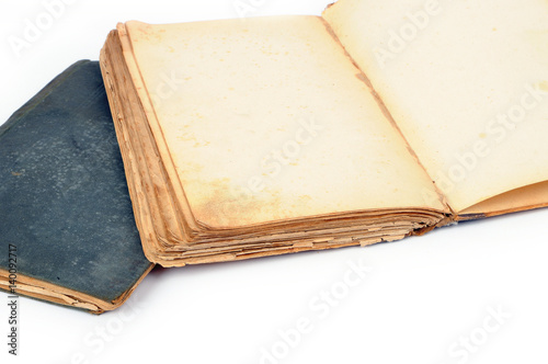 Obraz Otwarta stara książka - fototapety do salonu