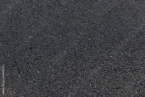 Czarna asfaltowa droga tło z masy bitumicznej Fototapet