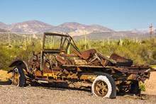 Vintage Truck Abandoned In Arizona Desert