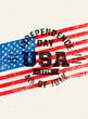 Happy Independence Day. USA Celebration Rough Vector Illustration Design Element Concept