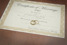 Gold Wedding Rings With A Marr...