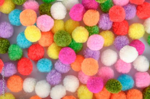 Fotografía  A colorful of Pom Pom  background