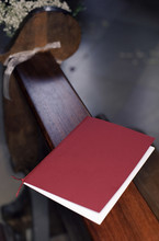 Songbook On A Bench In A Church - Ceremony - Christianity