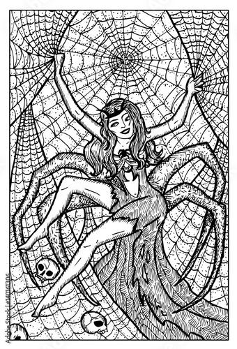 Arachne Spider Woman Canvas Print