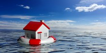 Lifebuoy And A Small House On ...