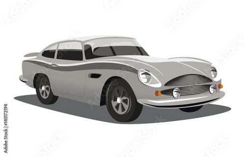Cadres-photo bureau Voitures rapides retro-styled classic car. Vector illustration