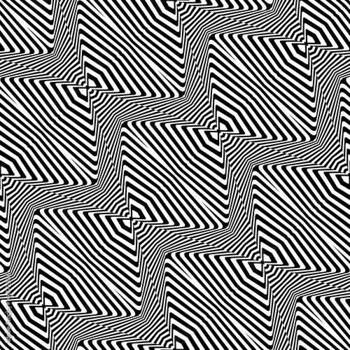 wzor-w-czarno-biale-zyg-zaki