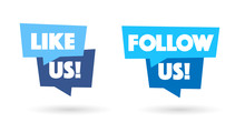 Like Us / Follow Us