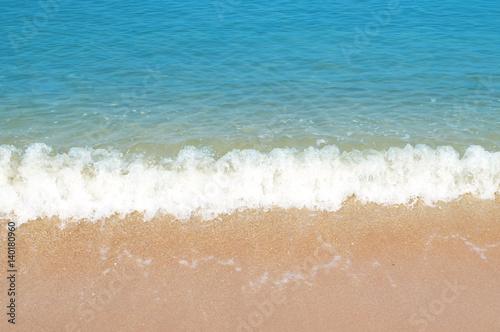Stickers pour porte Pierre, Sable Wave & Sand beach background