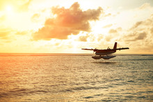 Summer Sunrise With Seaplane. ...