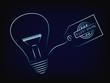 vector of idea lightbulb with trademark tag