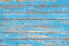 Distressed Blue Rustic Wood Backdrop