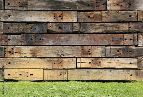 pared de madera muro traviesas de tren U84A7889-f17 Tablou Canvas
