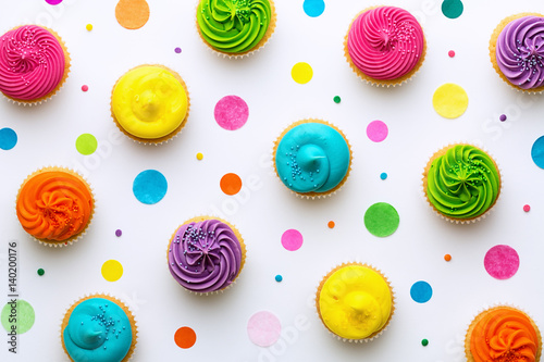 Cupcake background Canvas Print