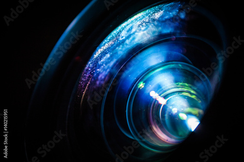 Photo  Macro of a projector lens