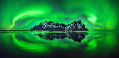Fototapeta Krajobraz Stokksnes aurora