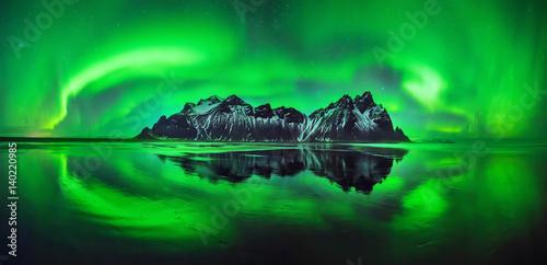 Photo  Stokksnes aurora