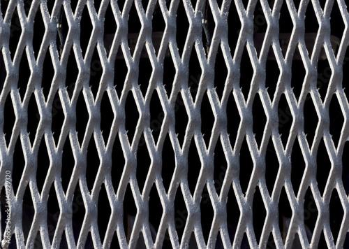 Türaufkleber Darknightsky Backgrounds collection - Texture steel grating
