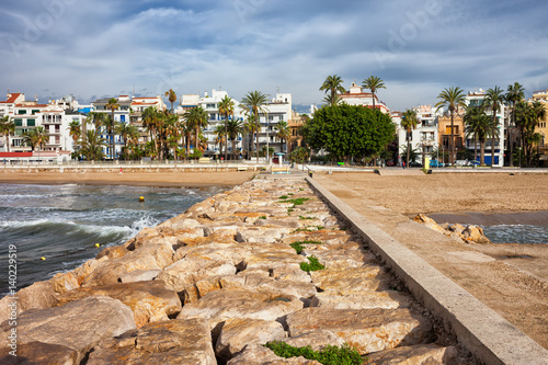 City on the water Resort Town of Sitges in Spain