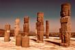 Leinwanddruck Bild - Atlantean figure in Tula. Mexico