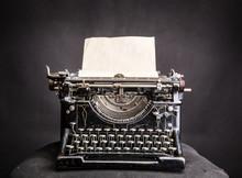 Vintage Black Typewrite With I...