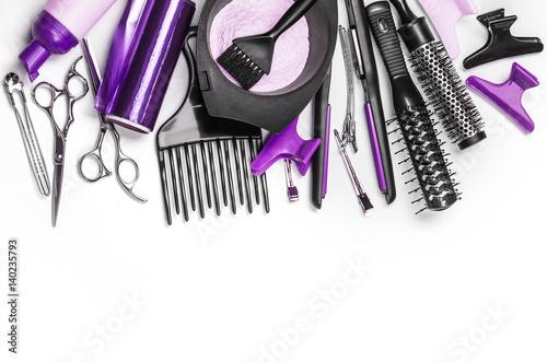 Fotografie, Obraz  Professional hairdresser tools