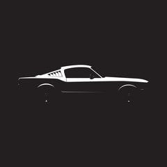 Vector muscle car silhouette