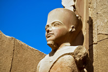 The Statue Of Amun Re In Luxor