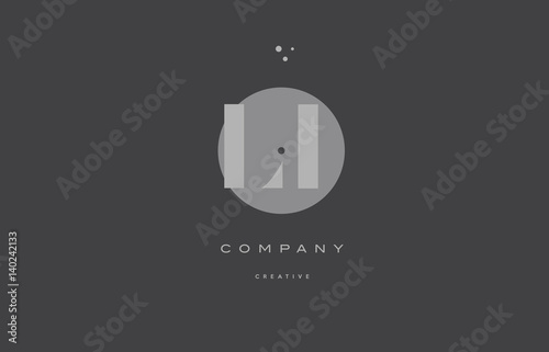 li l i  grey modern alphabet company letter logo icon Canvas Print