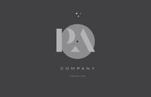Pa P A  Grey Modern Alphabet Company Letter Logo Icon