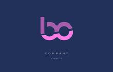 Bo B O  Pink Blue Alphabet Let...