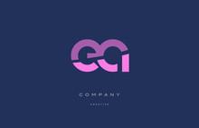 Ea E A  Pink Blue Alphabet Letter Logo Icon