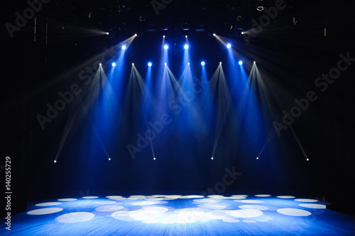 Free stage with lights, lighting devices. - 140255729