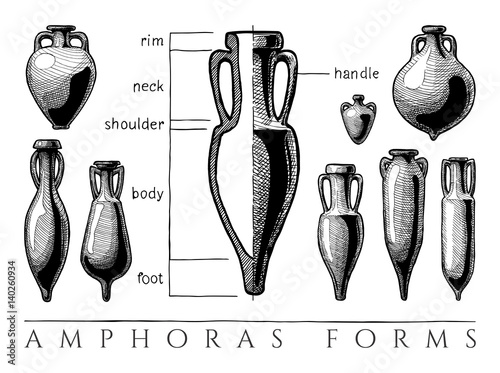 Photo Amphora forms set