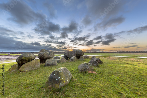 Hunnish megalithic Dolmen Canvas Print