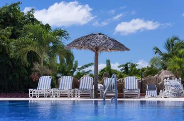 Pool Landschaft auf capo Santa Maria in Kuba - Serie Kuba 2016 Reportage