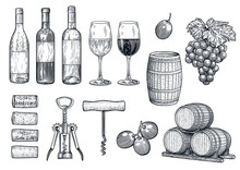 Wine Stuff Illustration, Drawi...