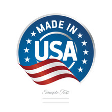 Made In USA Label Logo Stamp C...