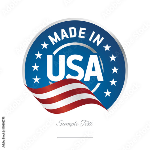 Made in USA label logo stamp certified Wall mural