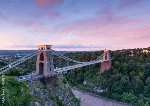 In de dag Brug Clifton Suspension Bridge