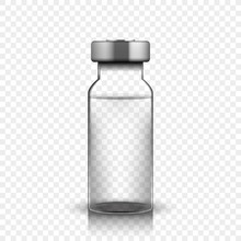 Transparent Glass Medical Vial...