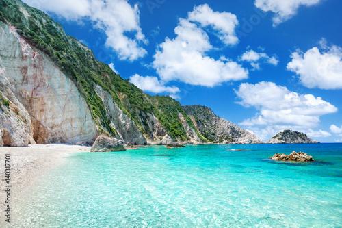 Foto auf Gartenposter Strand Petani beach, Kefalonia, Greece