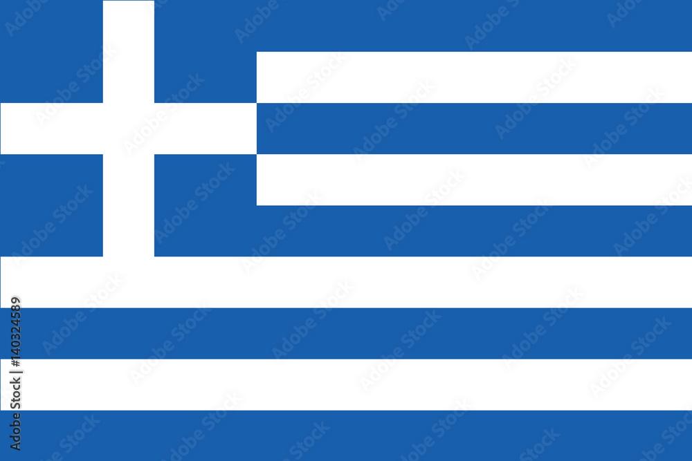 Fototapeta Amazing Greek flag
