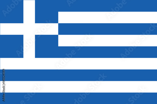 Fotografie, Obraz  Amazing Greek flag