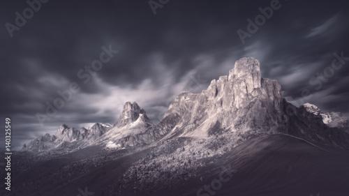 Foto auf Gartenposter Gebirge High mountain pass in dramatic atmosphere